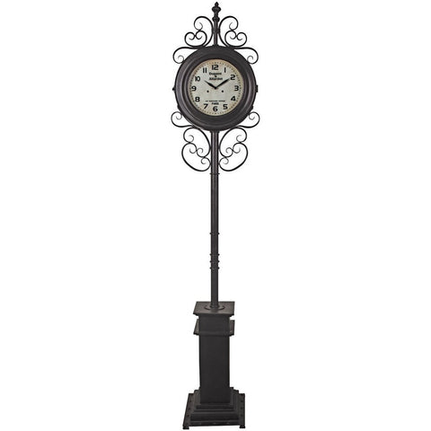 Ornate Standing Clock-Clocks-Retail Therapy Interiors