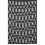 Outdoor Recycled Plastic Arabian Nights Black Rug-Soft Furnishings-Retail Therapy Interiors