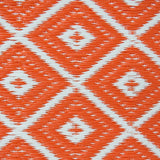 Outdoor Recycled Plastic Arabian Nights Orange Rug-Soft Furnishings-Retail Therapy Interiors