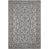 Outdoor Recycled Plastic Gala Taupe Grey and Cream Rug-Soft Furnishings-Retail Therapy Interiors