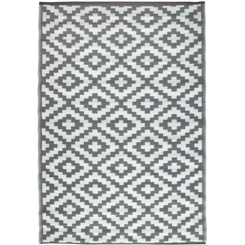 Outdoor Recycled Plastic Nirvana Grey and White Rug-Soft Furnishings-Retail Therapy Interiors