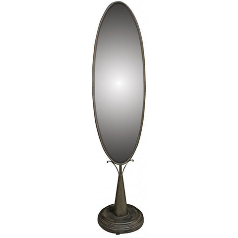 Oval Standing Mirror-Mirrors-Retail Therapy Interiors