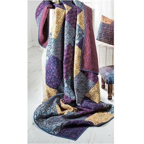 Patchwork Quilt with Kantha Stitch-Soft Furnishings-Retail Therapy Interiors