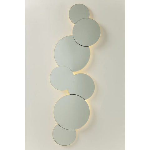 Pebble Circles Mirror with LEDs-Mirrors-Retail Therapy Interiors
