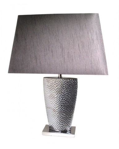 Pewter Small Table Lamp With Black Shade-Lighting-Retail Therapy Interiors