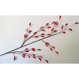 Red Acrylic Blossom on Stem 81cms-Accessories-Retail Therapy Interiors