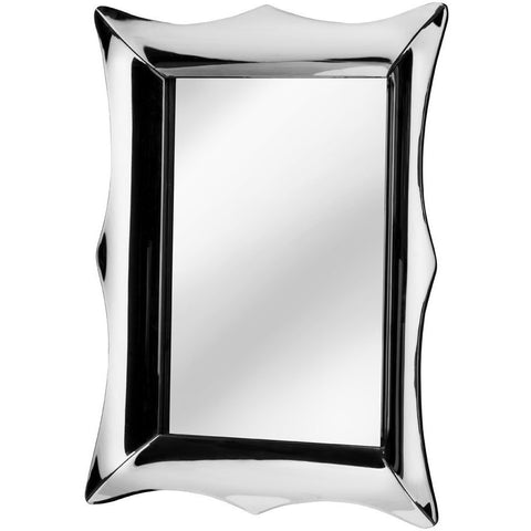 Reflective 3D Curved Frame Wall Mirror 107cm-Mirrors-Retail Therapy Interiors