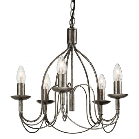 Regency Antiqued Silver Chandelier-Lighting-Retail Therapy Interiors