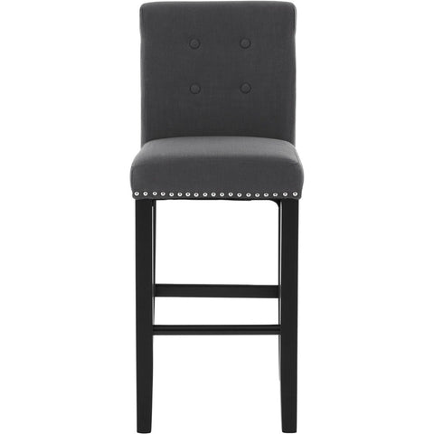Regents Park Bar Chair Black Linen, Set of 2-Furniture-Retail Therapy Interiors