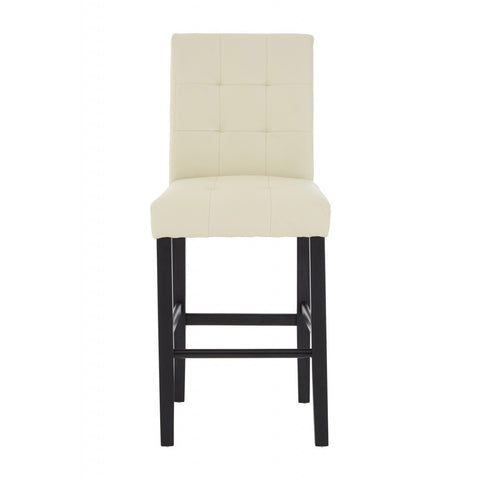 Regents Park Bar Chair Cream Leather Effect, Set of 2-Furniture-Retail Therapy Interiors