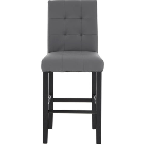 Regents Park Bar Chair Grey Leather Effect, Set of 2-Furniture-Retail Therapy Interiors