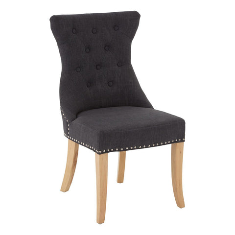 Regents Park Charcoal Dining Chair, Set of 2-Furniture-Retail Therapy Interiors