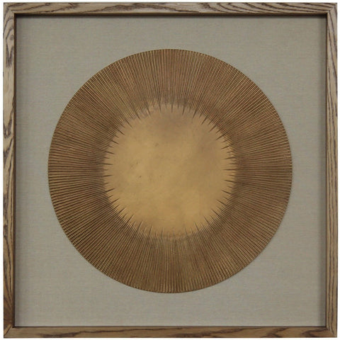 Round Two Tone Wooden Wall Carving-Wall Art-Retail Therapy Interiors