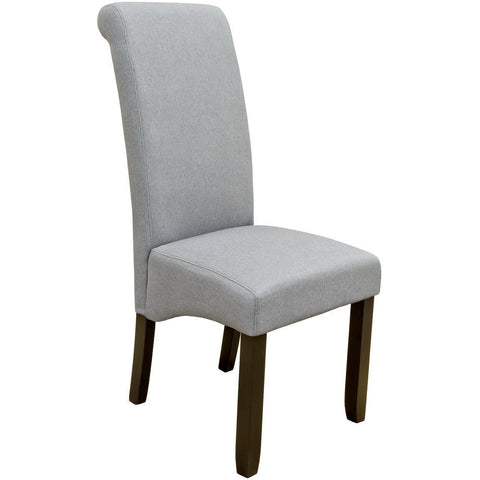 Scroll Back Dining Chair Grey-Furniture-Retail Therapy Interiors