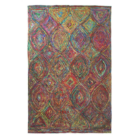 Silk Tribal Multi Rug-Soft Furnishings-Retail Therapy Interiors