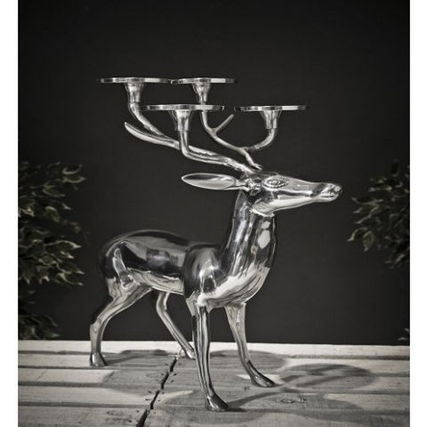 Silver Stag Candle Holder-Accessories-Retail Therapy Interiors