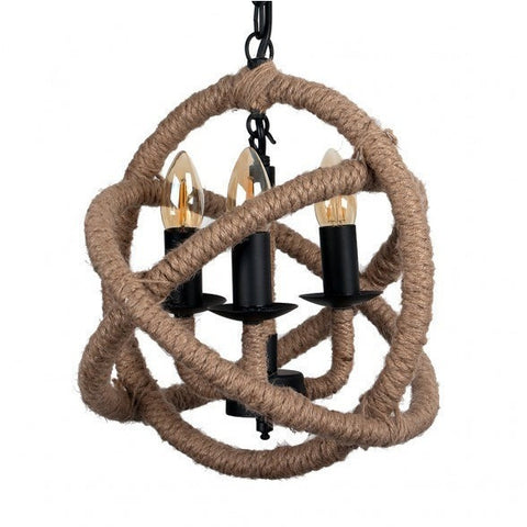 Sisal Rope Knot 3 Way Chandelier-Lighting-Retail Therapy Interiors