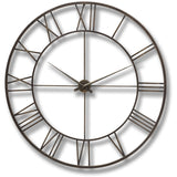 Skeleton Wall Clock Bronze Metal 114cms-Clocks-Retail Therapy Interiors