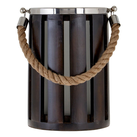 Slatted Hurricane Candle Holder-Accessories-Retail Therapy Interiors