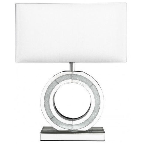 Small 'O' Lamp With White Shade-Lighting-Retail Therapy Interiors