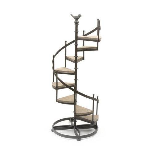 Spiral Stairs Shelf Washed Small 82cm-Furniture-Retail Therapy Interiors