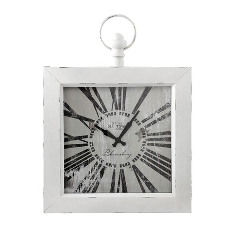 Square While Wall Clock-Clocks-Retail Therapy Interiors