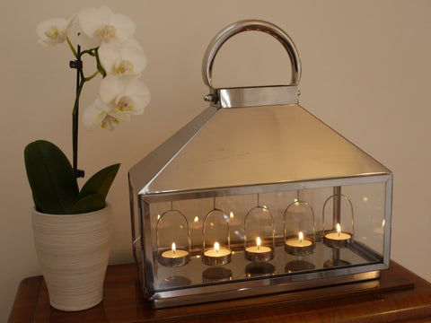 Stainless Steel Lantern Hanging Lantern-Accessories-Retail Therapy Interiors