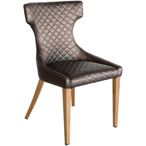 Stamford Dining Chair with Rose Gold Legs-Furniture-Retail Therapy Interiors