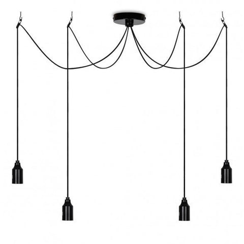 Suspended 4 Way Lampholder Pendant-Lighting-Retail Therapy Interiors