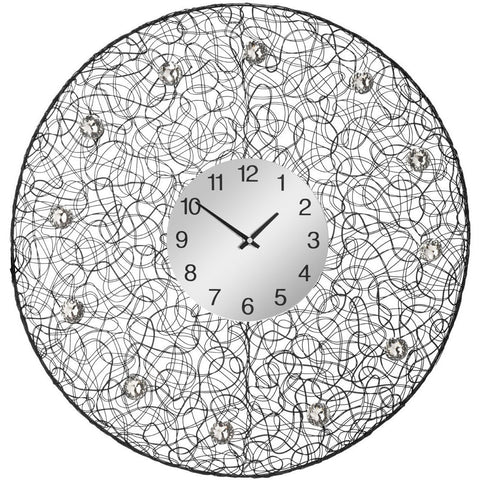 Tangle Wall Clock 60cms-Clocks-Retail Therapy Interiors
