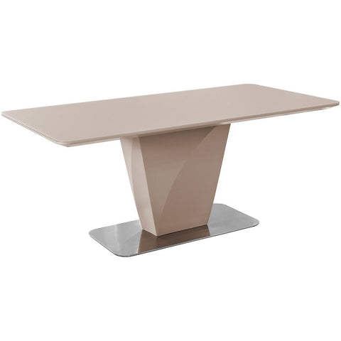 Taupe Glass Dining Table-Furniture-Retail Therapy Interiors