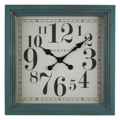 Teal Wall Clock-Clocks-Retail Therapy Interiors