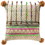 Tribal Block Printed Cotton Cushion A-Soft Furnishings-Retail Therapy Interiors