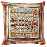 Tribal Block Printed Cotton Cushion B-Soft Furnishings-Retail Therapy Interiors