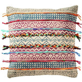 Tribal Block Printed Cotton Cushion C-Soft Furnishings-Retail Therapy Interiors