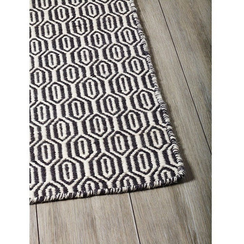 Versatile Easy Clean Indoor Outdoor Black and Light Cream Rug DP12-Soft Furnishings-Retail Therapy Interiors