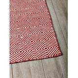 Versatile Easy Clean Indoor Outdoor Red and Light Cream Rug DP10-Soft Furnishings-Retail Therapy Interiors