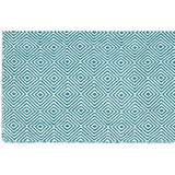 Versatile Easy Clean Indoor Outdoor Turquoise and Light Cream Rug DP10-Soft Furnishings-Retail Therapy Interiors