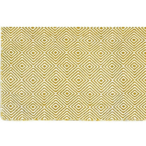 Versatile Easy Clean Indoor Outdoor Yellow and Light Cream Rug DP10-Soft Furnishings-Retail Therapy Interiors