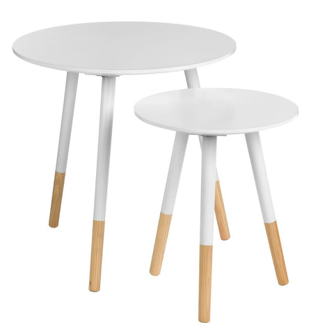 Viborg Round Side Tables-Furniture-Retail Therapy Interiors