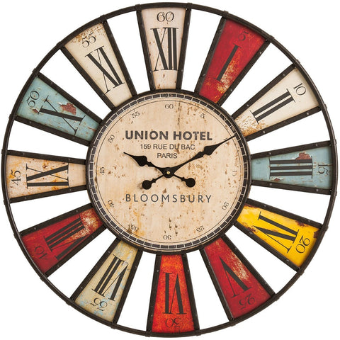 Vintage Union Hotel Clock 80cm-Clocks-Retail Therapy Interiors
