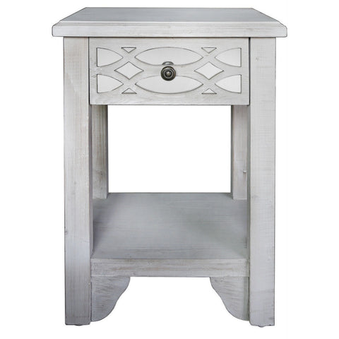Washed Ash 1 Drawer Cabinet-Furniture-Retail Therapy Interiors