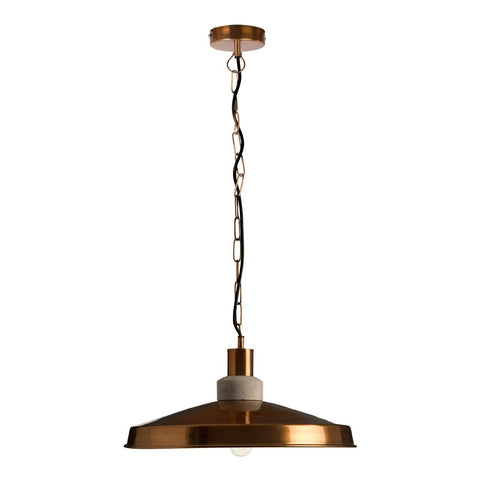 Wide Copper Shade Pendant-Lighting-Retail Therapy Interiors