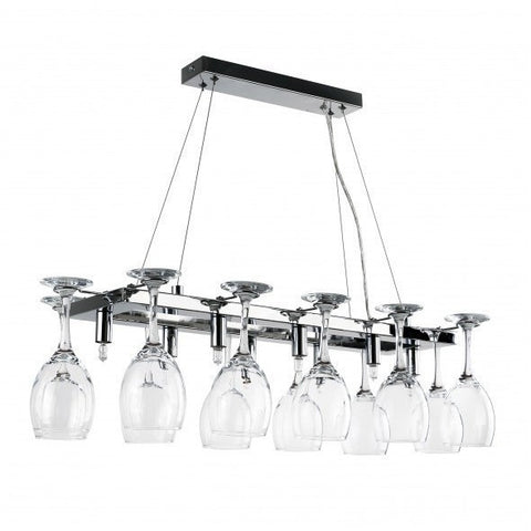 Wine Glass 8 Way Ceiling Light Chrome-Lighting-Retail Therapy Interiors