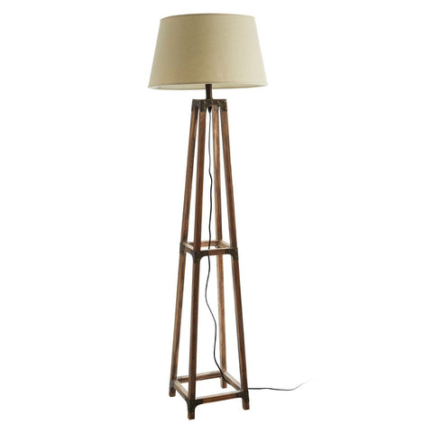 Wooden A Frame Floor Lamp-Lighting-Retail Therapy Interiors