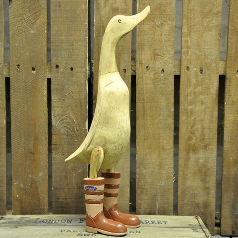 Duck with Durberry boots