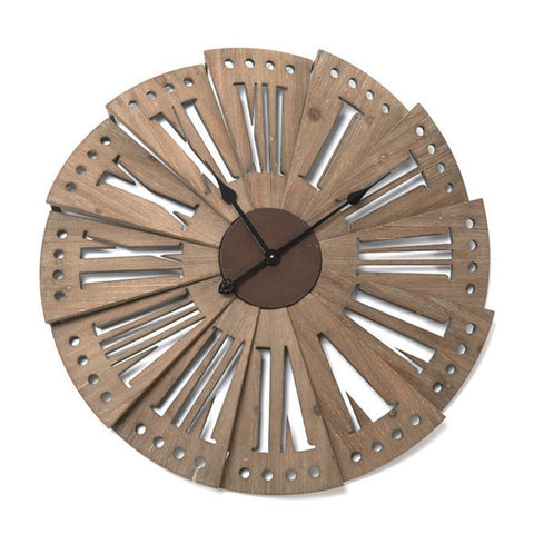 Wooden Layered Wall Clock-Clocks-Retail Therapy Interiors
