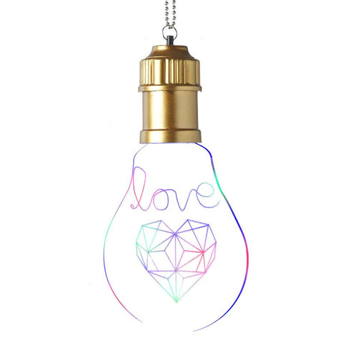Word Art Light Bulb (Love)-Lighting-Retail Therapy Interiors