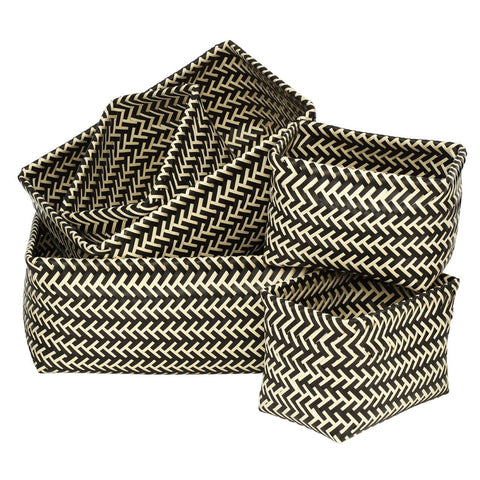 Woven Storage Baskets Set Of 5-Furniture-Retail Therapy Interiors
