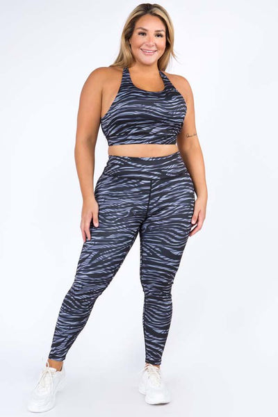 Zebra Dreams Workout High-Rise 2 Piece Set